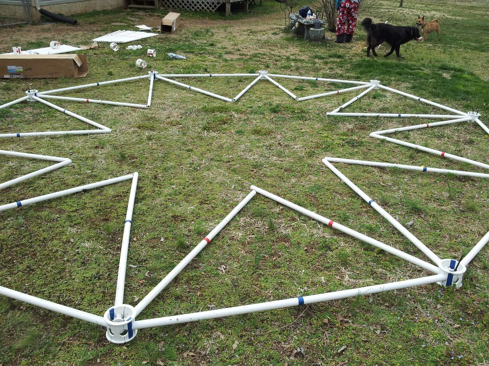 Geodesic Kit - Geodesic Dome Kits made from PVC Pipe